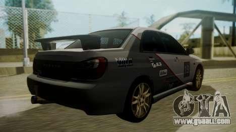 Subaru Impreza WRX GDA for GTA San Andreas bottom view