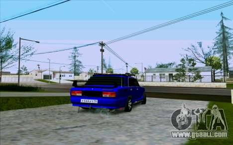 VAZ 2107 Tuning for GTA San Andreas right view