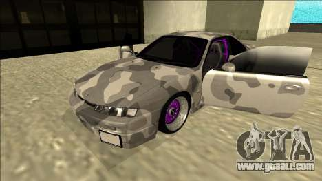 Nissan Silvia S14 Army Drift for GTA San Andreas back view
