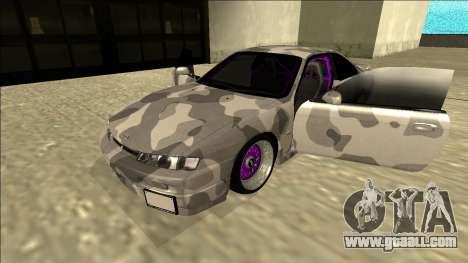 Nissan Silvia S14 Army Drift for GTA San Andreas back view