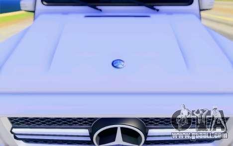 Mercedes-Benz G65 AMG for GTA San Andreas interior