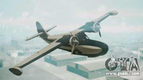 Grumman G-21 Goose Black and White for GTA San Andreas