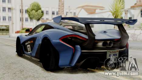 McLaren P1 GTR v1.0 for GTA San Andreas left view