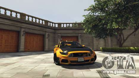 GTA 5 Ford Mustang GT RocketB & Wide Body right side view