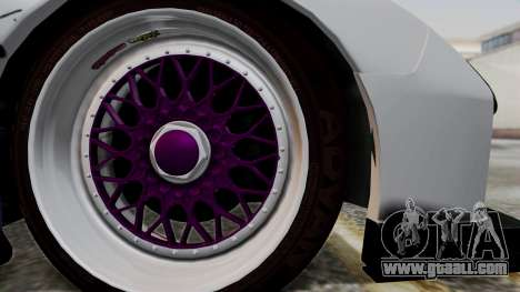 Mazda RX-7 Black Rock Shooter Itasha for GTA San Andreas back left view
