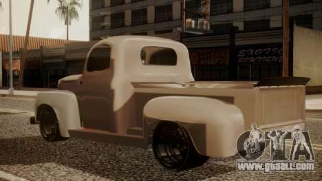 Ford F-100 1948 Simple Black Edition for GTA San Andreas left view