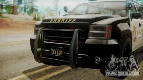 GTA 5 Declasse Granger Sheriff SUV IVF for GTA San Andreas right view