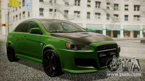 Mitsubishi Lancer Evolution X WBK for GTA San Andreas
