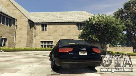 GTA 5 Audi A8 v1.1 rear left side view