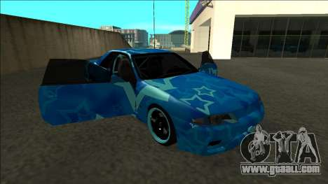 Nissan Skyline R32 Drift Blue Star for GTA San Andreas side view