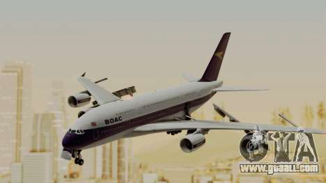 Airbus A380-800 British Overseas Airways Corp. for GTA San Andreas