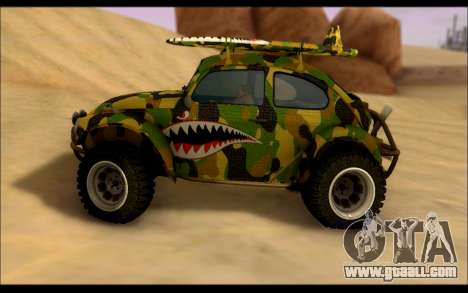 Volkswagen Baja Buggy Camo Shark Mouth for GTA San Andreas left view