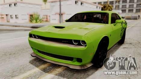 Dodge Challenger SRT Hellcat 2015 HQLM for GTA San Andreas upper view