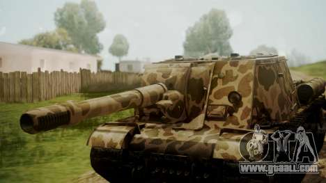 ISU-152 Panther Desert from World of Tanks for GTA San Andreas right view
