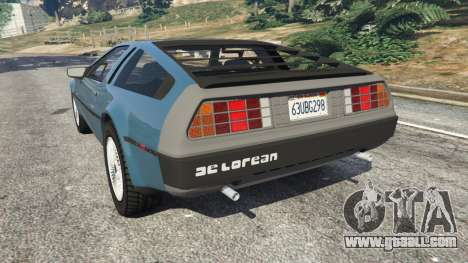 GTA 5 DeLorean DMC-12 v1.2 left side view