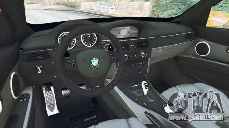 BMW M3 (E92) WideBody v1.1 for GTA 5