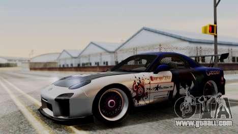 Mazda RX-7 Black Rock Shooter Itasha for GTA San Andreas