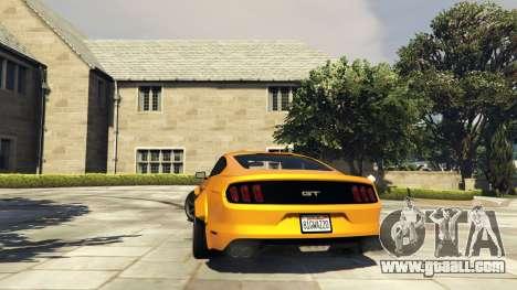 GTA 5 Ford Mustang GT RocketB & Wide Body rear left side view