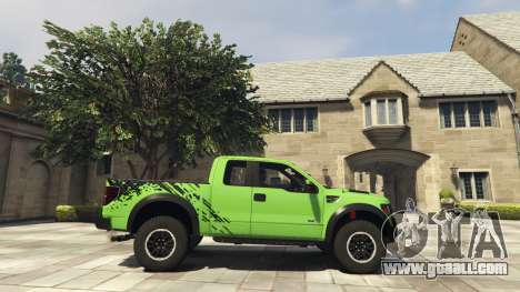 GTA 5 Ford F150 SVT Raptor 2012 v2.0 left side view