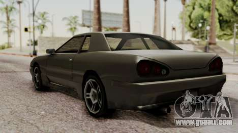 Elegy The Gold Car 2 for GTA San Andreas back left view