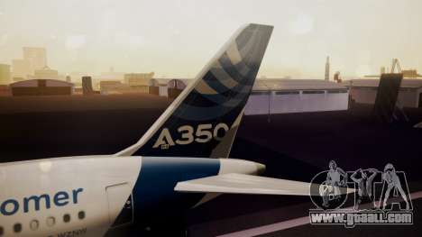 Airbus 350-900XWB Qatar Launch Customer for GTA San Andreas back left view
