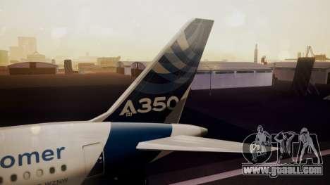 Airbus 350-900XWB Qatar Launch Customer for GTA San Andreas back left view