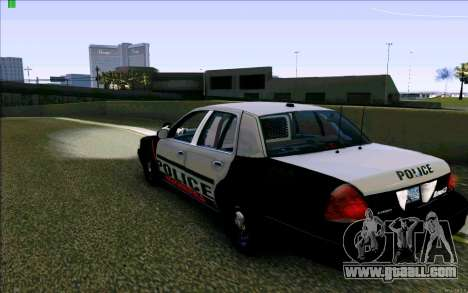Weathersfield Police Crown Victoria for GTA San Andreas back left view
