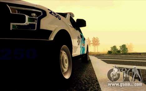 Ford F150 2015 Towtruck for GTA San Andreas side view