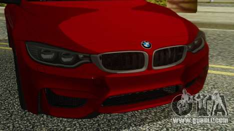 BMW M4 Coupe 2015 for GTA San Andreas back view
