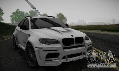 BMW X6M HAMANN Final for GTA San Andreas inner view