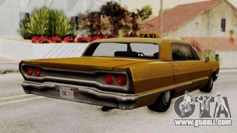 Taxi-Savanna v2 for GTA San Andreas left view