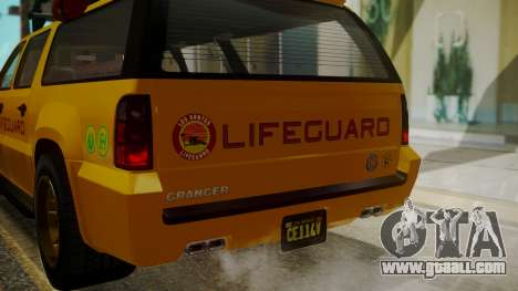 GTA 5 Declasse Granger Lifeguard IVF for GTA San Andreas upper view