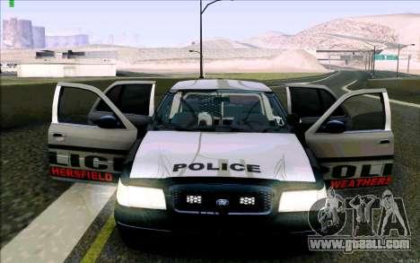 Weathersfield Police Crown Victoria for GTA San Andreas interior