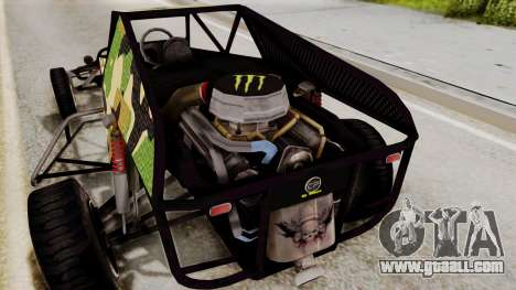 Buggy Camo Shark Mouth for GTA San Andreas inner view