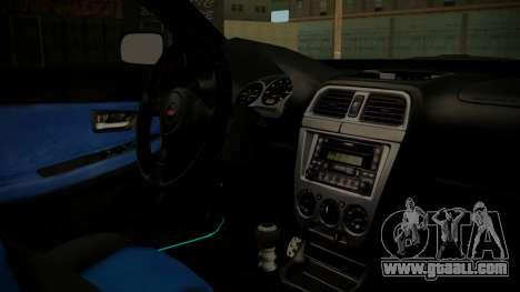 Subaru Impreza 2004 for GTA San Andreas right view