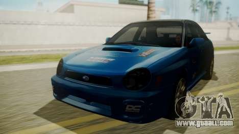 Subaru Impreza WRX GDA for GTA San Andreas upper view