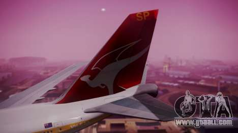 Boeing 747SP Qantas Gold for GTA San Andreas back left view