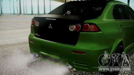 Mitsubishi Lancer Evolution X WBK for GTA San Andreas side view