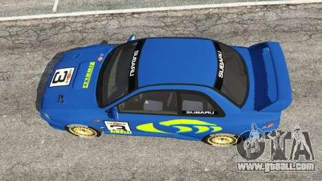 GTA 5 Subaru Impreza WRC 1998 back view