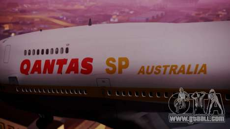 Boeing 747SP Qantas Gold for GTA San Andreas right view