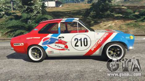 GTA 5 Ford Escort MK1 v1.1 [JE Pistons] left side view