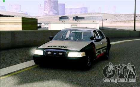 Weathersfield Police Crown Victoria for GTA San Andreas