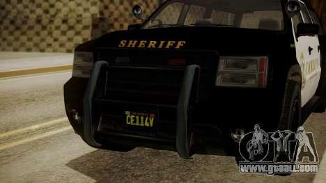GTA 5 Declasse Granger Sheriff SUV for GTA San Andreas back view