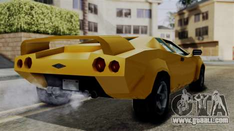 Infernus from Vice City Stories for GTA San Andreas right view