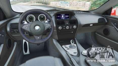 GTA 5 BMW M6 (E63) WideBody v0.1 [Carrillo] back view