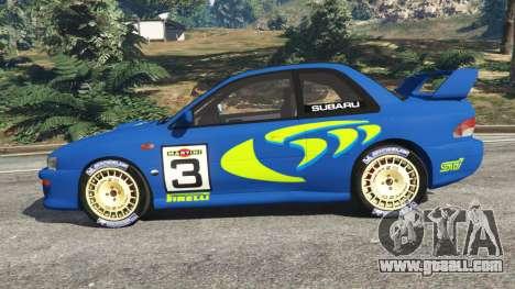 GTA 5 Subaru Impreza WRC 1998 left side view