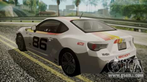 Toyota GT86 2012 LQ for GTA San Andreas engine