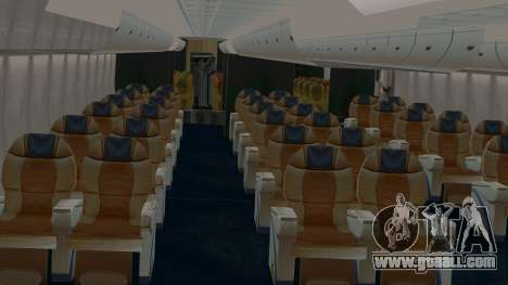 Airbus A380-800 British Overseas Airways Corp. for GTA San Andreas inner view