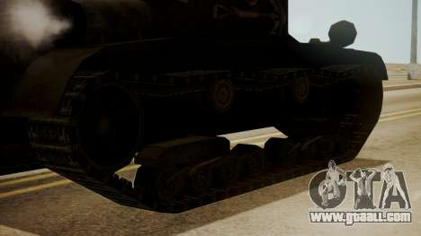 T2 Light Tank for GTA San Andreas back left view