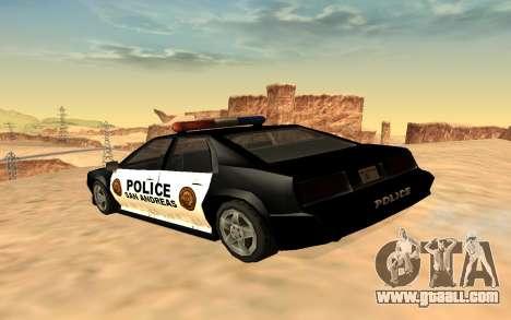 Four police Buffalo for GTA San Andreas left view